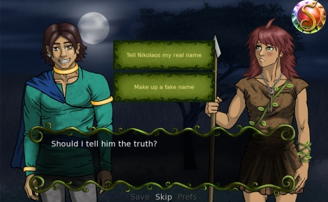 "In ""Serafina's Saga,"" you can make choices for Serafina that often affect the story"